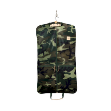 Load image into Gallery viewer, Two-Suiter - Classic Camo Coated Canvas Front Angle in Color 'Classic Camo Coated Canvas'