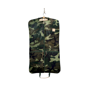 Two-Suiter - Classic Camo Coated Canvas Front Angle in Color 'Classic Camo Coated Canvas'