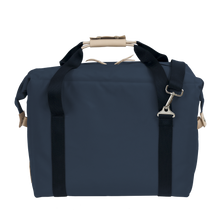 Load image into Gallery viewer, Large Cooler - Navy Coated Canvas Front Angle in Color 'Navy Coated Canvas'