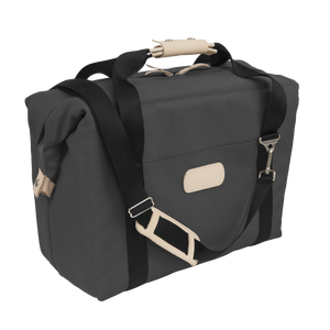 Large Cooler - Charcoal Coated Canvas Front Angle in Color 'Charcoal Coated Canvas'