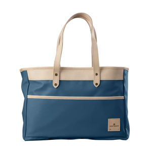 Bebita - French Blue Coated Canvas Front Angle in Color 'French Blue Coated Canvas'