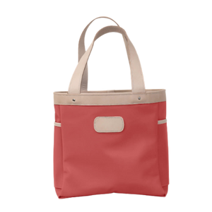 Left Bank - Coral Coated Canvas Front Angle in Color 'Coral Coated Canvas'