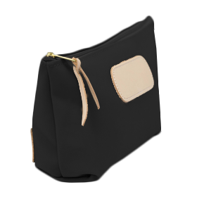 Grande - Black Coated Canvas Front Angle in Color 'Black Coated Canvas'