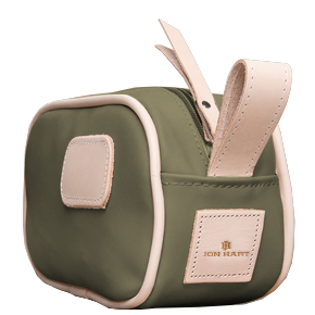 Junior Shave Kit - Moss Coated Canvas Front Angle in Color 'Moss Coated Canvas'