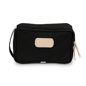 Small Travel Kit - Black Coated Canvas Front Angle in Color 'Black Coated Canvas'