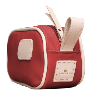 Junior Shave Kit - Red Coated Canvas Front Angle in Color 'Red Coated Canvas'