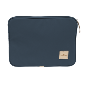 "13"" Computer Case - French Blue Coated Canvas Front Angle in Color 'French Blue Coated Canvas'"