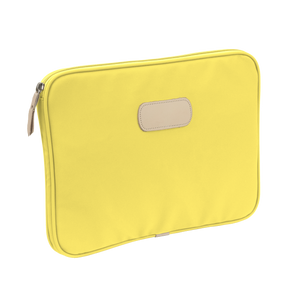 "13"" Computer Case - Lemon Coated Canvas Front Angle in Color 'Lemon Coated Canvas'"
