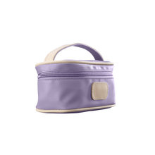 Load image into Gallery viewer, Mini Makeup Case - Lilac Coated Canvas Front Angle in Color 'Lilac Coated Canvas'