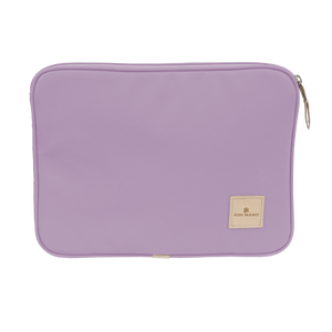 "13"" Computer Case - Lilac Coated Canvas Front Angle in Color 'Lilac Coated Canvas'"