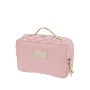 Large Travel Kit Back Angle in Color 'Rose Coated Canvas'