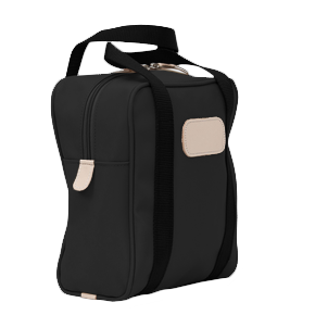 Shag Bag - Black Coated Canvas Front Angle in Color 'Black Coated Canvas'