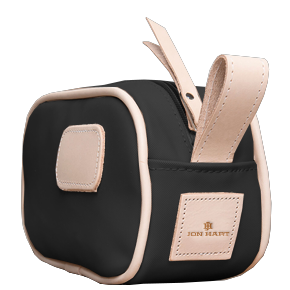 Junior Shave Kit - Black Coated Canvas Front Angle in Color 'Black Coated Canvas'
