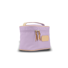Load image into Gallery viewer, Makeup Case - Lilac Coated Canvas Front Angle in Color 'Lilac Coated Canvas'