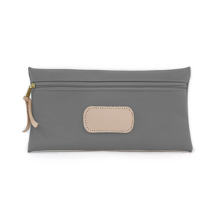 Large Pouch - Slate Coated Canvas Front Angle in Color 'Slate Coated Canvas'