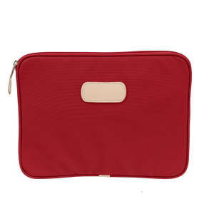 "13"" Computer Case - Red Coated Canvas Front Angle in Color 'Red Coated Canvas'"