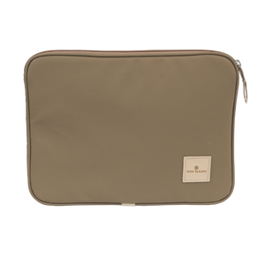 "13"" Computer Case - Saddle Coated Canvas Front Angle in Color 'Saddle Coated Canvas'"