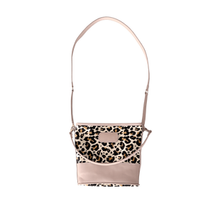 Letita - Leopard Coated Canvas Front Angle in Color 'Leopard Coated Canvas'