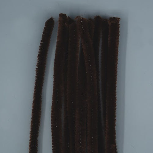 Chenille Sticks 12mm - Brown