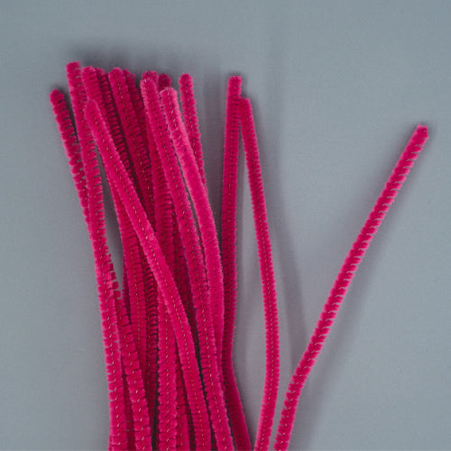 Chenille Sticks 6mm - Cerise