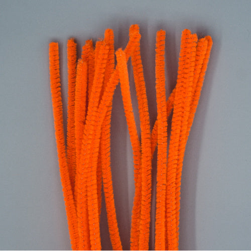 Chenille Sticks 6mm - Orange