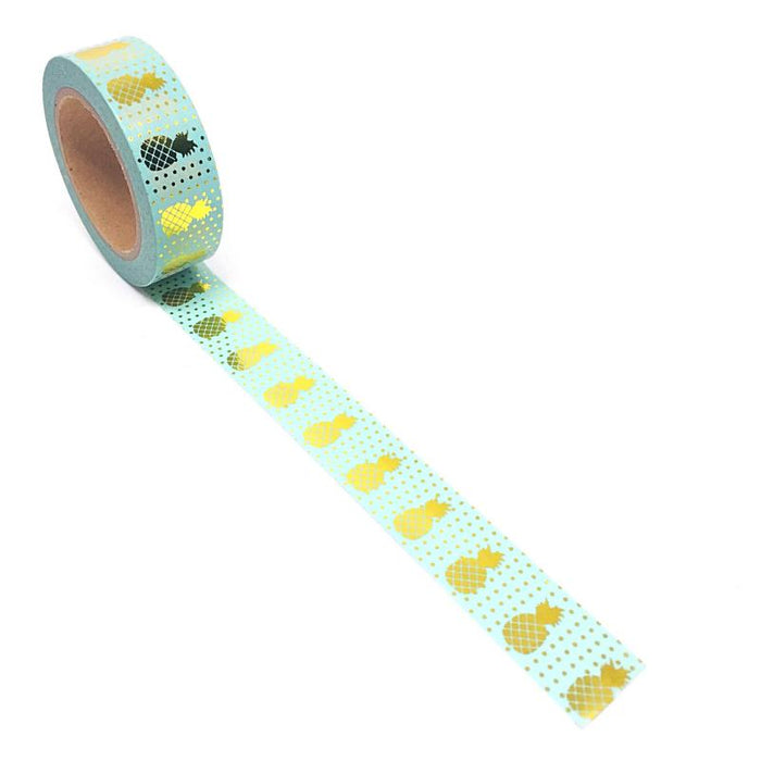 Washi Tape - Blue & Gold Pineapples