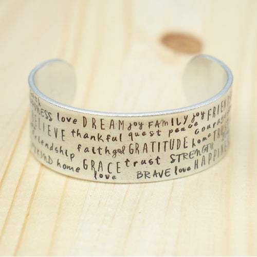 Bangle Cuff - Word Pattern