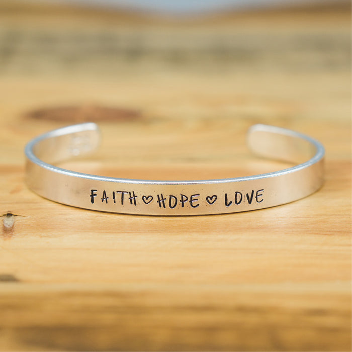 Bangle - Faith Hope Love