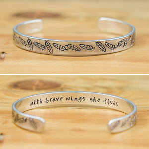 Bangle - With brave wings she flies (pattern)