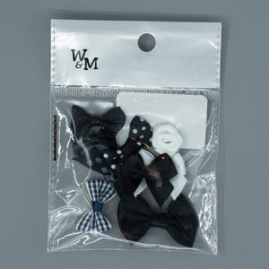 Bows - Black & White Mix