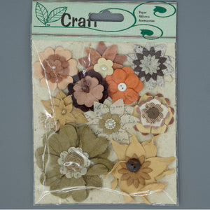 Vintage Flowers - Brown Mix