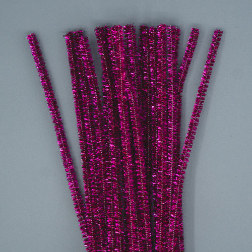 Chenille Sticks 6mm - Cerise Tinsel