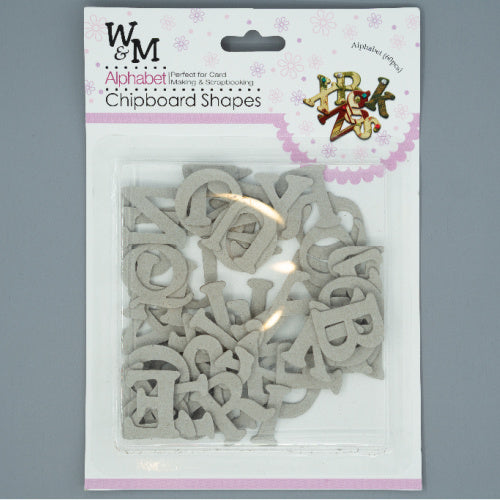 Chipboard Shapes - ABC Uppercase