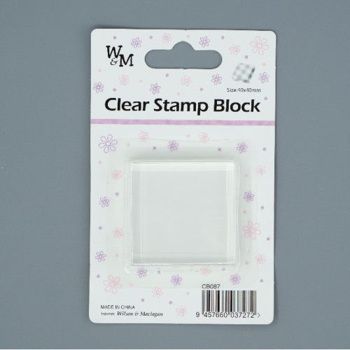 Clear Stamp Block - small