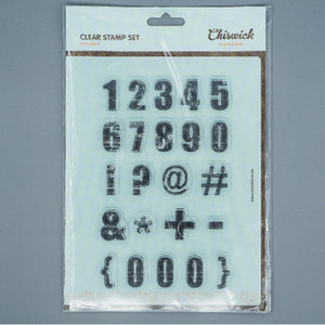 Clear Stamp Set - Nifty Digits