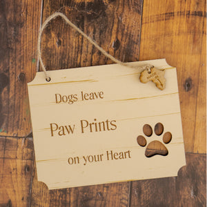 Sign - Dog Paw Prints