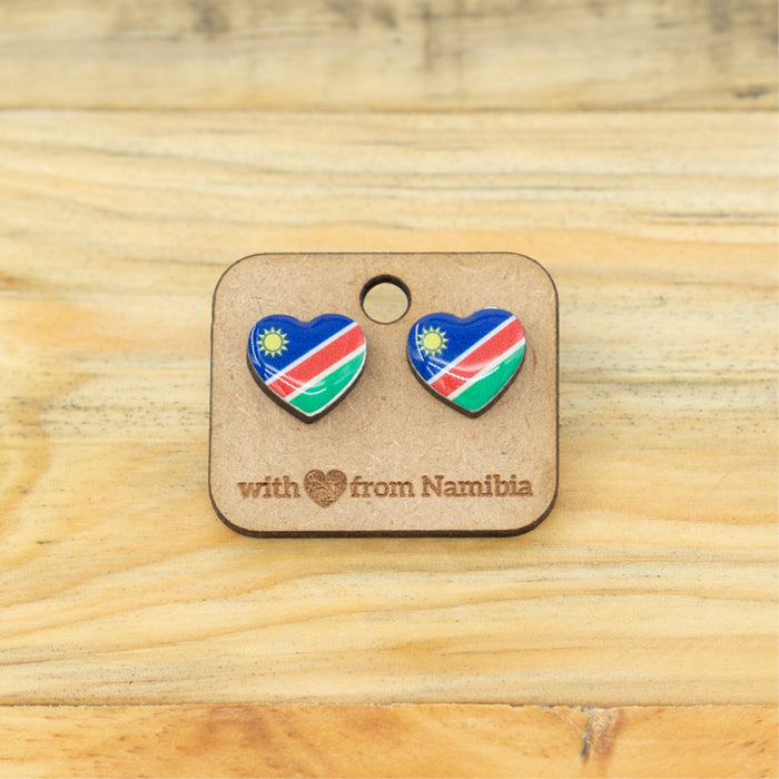 Earrings - Nam Flag Heart