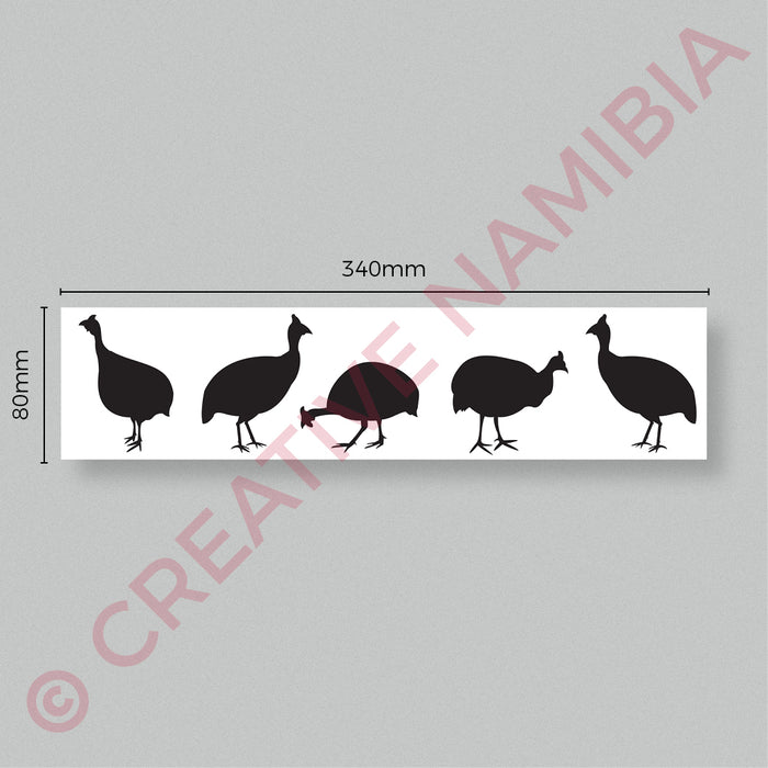 VINYL STICKER - GUINEAFOWL FAMILY