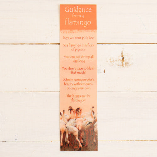 Bookmark - Guidance from a Flamingo