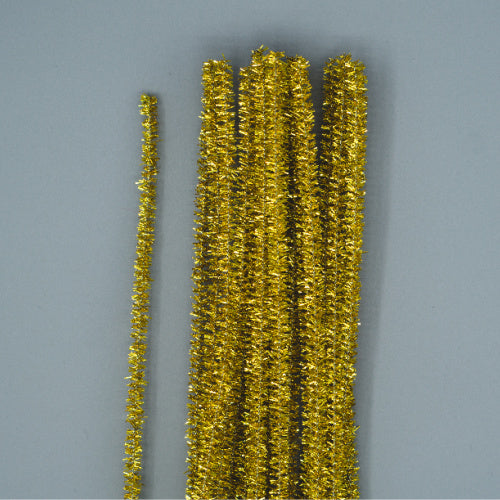 Chenille Sticks 6mm - Gold Tinsel
