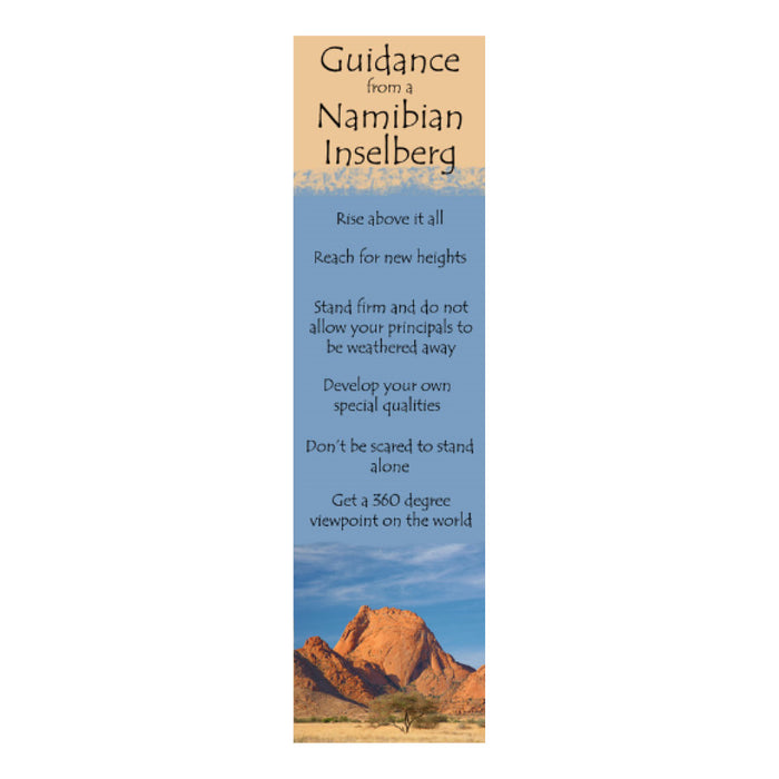 Bookmark - Guidance from a Namibian Inselberg