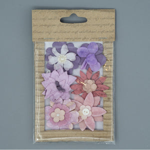 Vintage Flowers - Purple Mix