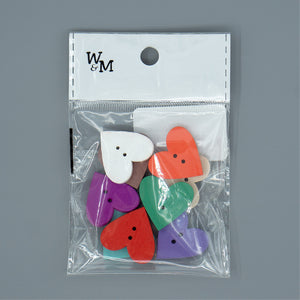 Buttons - medium Solid Hearts