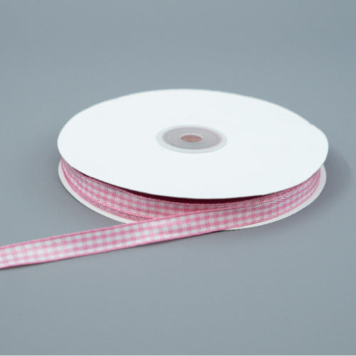 Pink Gingham Ribbon