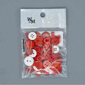 Buttons - Red Mix