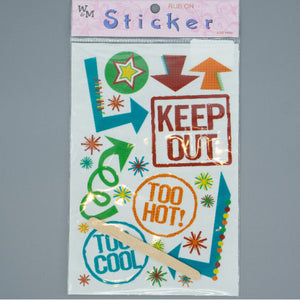 Rub On Sticker - Keep Out