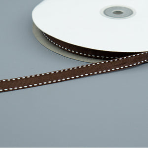 Saddle Stitch Ribbon - Brown