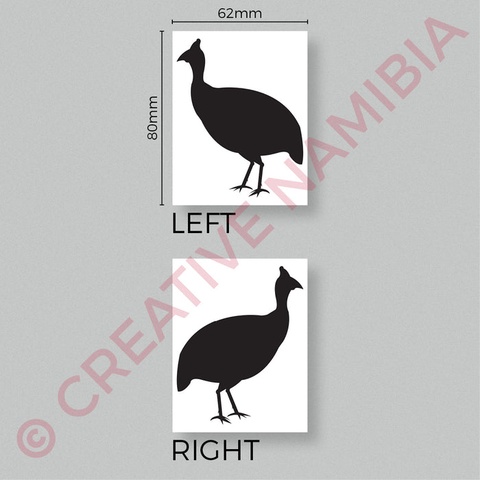 VINYL STICKER - GUINEAFOWL