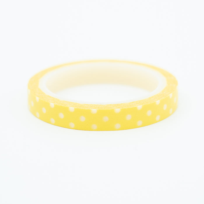 Washi Tape - Slim Yellow Dot