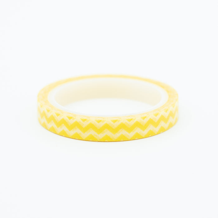 Washi Tape - Slim Yellow Zigzag